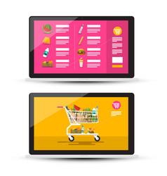 online food shop grocery - supermarket on-line vector image