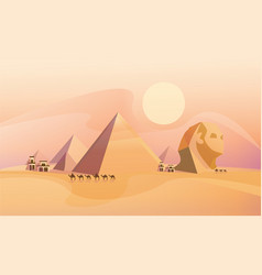 Panorama of the ancient egyptian pyramids vector