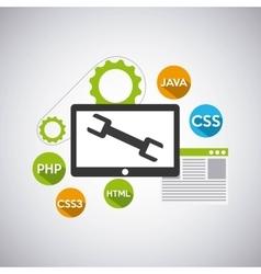 Programming language concept icons vector