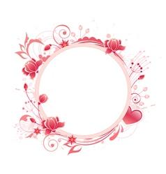 Rose round banner vector