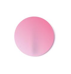 round blank adhesive sticker flat icon vector image