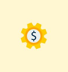 set money icon flat element vector image