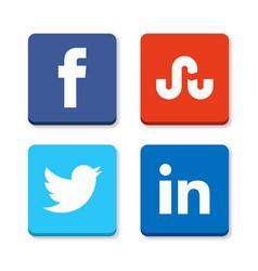 Set of flat design sale stickers of facebook vector