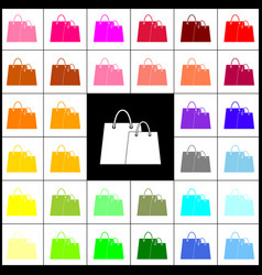 Shopping bags sign felt-pen 33 colorful vector
