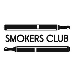 smokers club logo simple style vector image