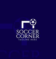 Soccer corner template design vector