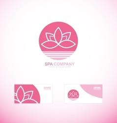 Spa wellness lotus flower logo vector image vector image