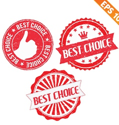 Stamp sticker best choice collection - - ep vector