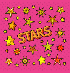 stars doodle collection star shapes vector image