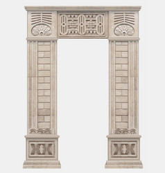 Stone ancient arch in egyptian style entrance vector