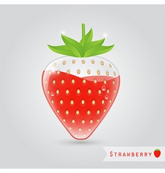 strawberry fruit juice vector image