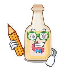 student apple cider isolated with mascot vector image