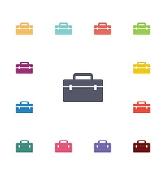 Tools box flat icons set vector