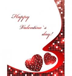valentine day frame vector image