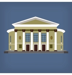 vintage historical building vector image