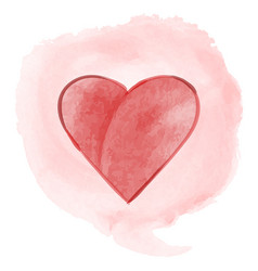 Watercolor abstract background with a heart in the vector