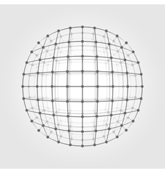 Wireframe mesh a circle vector