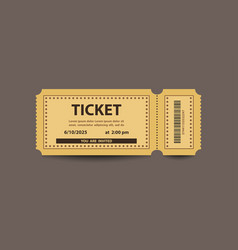 Yellow paper stub ticket vector