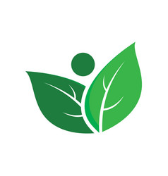abstract leaf eco logo image vector image