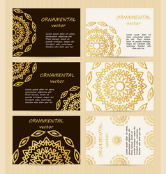 business cards 35 x 25 inch size set golden vector image