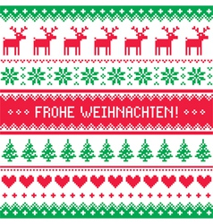 Frohe Weihnachten card - christmas pattern vector image