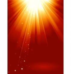 Golden light burst vector