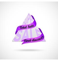 Modern 3d sale badge vector image vector image