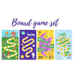 set of kids boardgame vector image