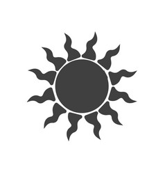 simple sun icon on white background abstract vector image
