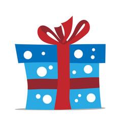 blue gift box vector image