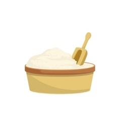 Flour And Scoop Baking Process Kitchen Equipment vector image vector image