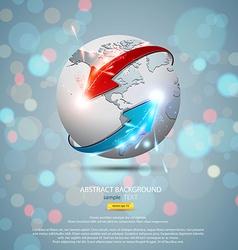 globe concept 2 vector image vector image