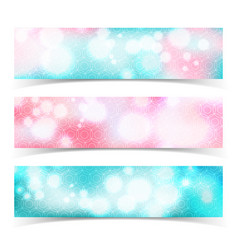 glowing abstract banner set vector image