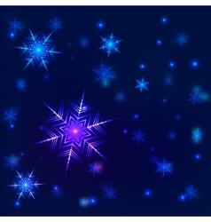 Shiny snowflake background vector image vector image