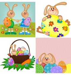 Templates for easter greetings card vector image vector image