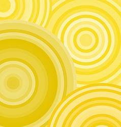 Yellow ripples circles abstract geometric vector image