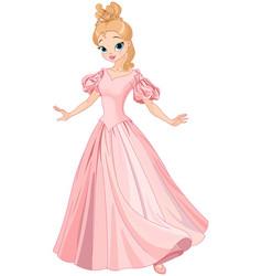 beautiful fairytale princess vector image vector image
