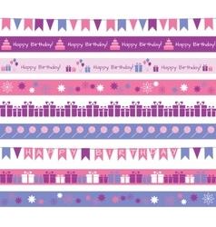 Birthday borders vector image vector image