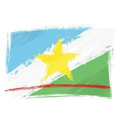 Grunge Roraima flag vector image