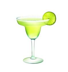 Margarita cocktail realistic vector image vector image