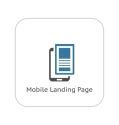Mobile Landing Page Icon Flat Design vector image vector image