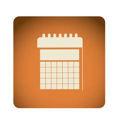orange emblem calendar icon vector image