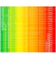 rainbow technology vector image