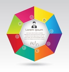 Business Octagon Diagram Infographic Presentation vector image vector image