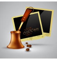 coffee pot vector image