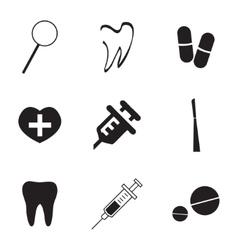 dental icons set vector image vector image