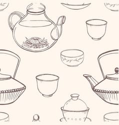 gorgeous seamless pattern with traditional asian vector image vector image