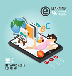 Infographic Education Media Learning Template vector image