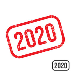 2020 rubber stamp with grunge texture design vector image
