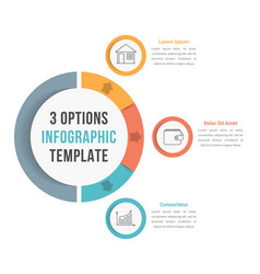 3 options infographic template vector image
